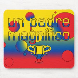 Un Padre Magnífico Ecuador Flag Colors Pop Art Mouse Pad