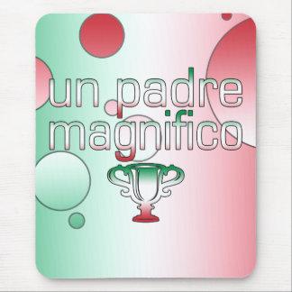 Un Padre Magnifico Italy Flag Colors Pop Art Mouse Pad
