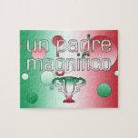 Un Padre Magnifico Italy Flag Colors Pop Art Puzzle