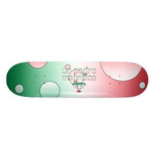 Un Padre Magnifico Italy Flag Colors Pop Art Skate Board Deck