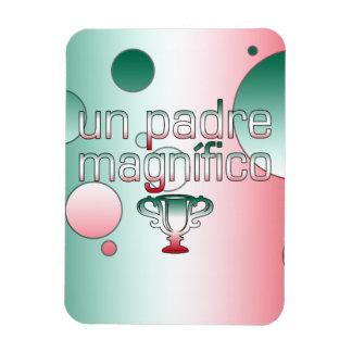 Un Padre Magnífico Mexico Flag Colors Pop Art Magnet