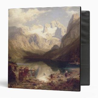 """Un paisaje alpino extenso del lago, 1862 (aceite carpeta 1 1/2"""""""