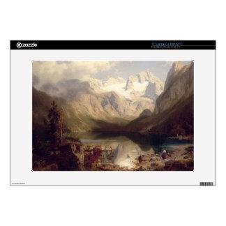 Un paisaje alpino extenso del lago, 1862 (aceite e calcomanías para portátiles