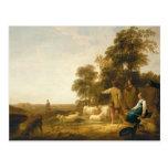 Un paisaje con los pastores y los Shepherdesses Tarjeta Postal