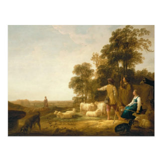 Un paisaje con los pastores y los Shepherdesses Tarjetas Postales