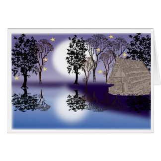 Un paisaje hermoso, tarjeta de felicitación