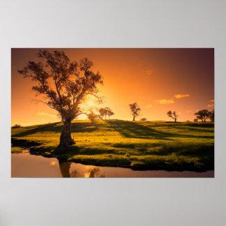 Un paisaje rural de las colinas de Adelaide Poster