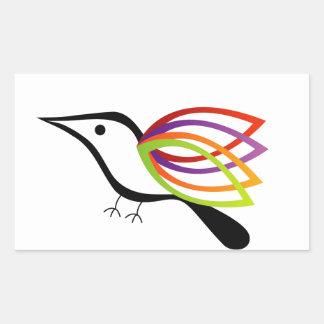 Un pájaro con las alas coloridas rectangular altavoz