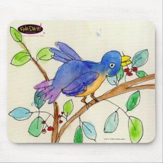 Un pájaro de Elsa Fleisher, edad 8 Tapetes De Raton