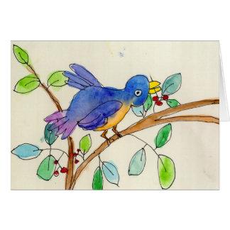 Un pájaro de Elsa Fleisher, edad 8 Felicitación
