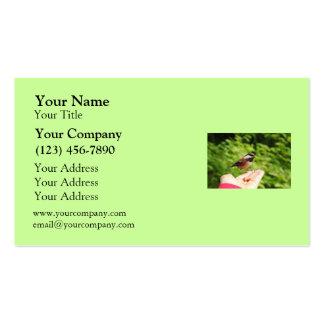 Un pájaro en la mano tarjeta de negocio