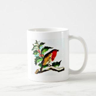 Un pájaro mirando fijamente algo n permanente chir tazas de café