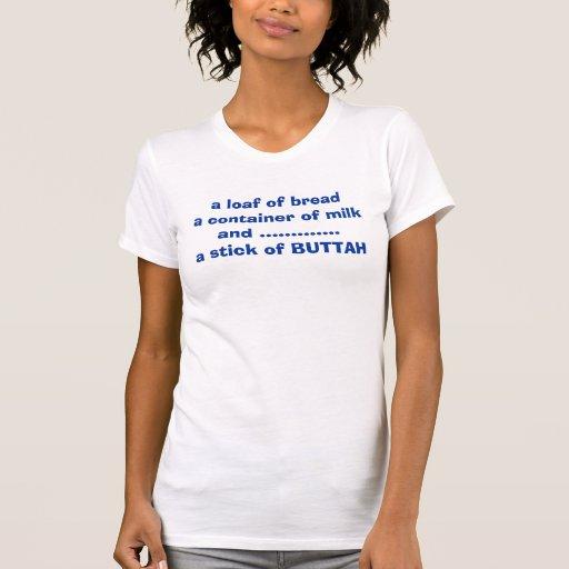 un pan del envase del breada de milkand .......... camiseta