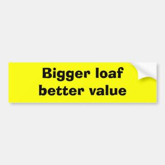 Un pan más grande mejora valor pegatina para auto
