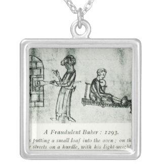Un panadero fraudulento, 1293 colgante cuadrado