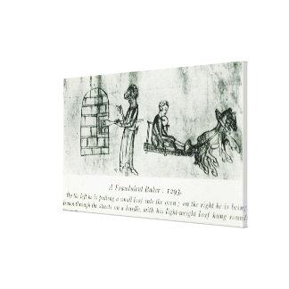Un panadero fraudulento, 1293 lona estirada galerías