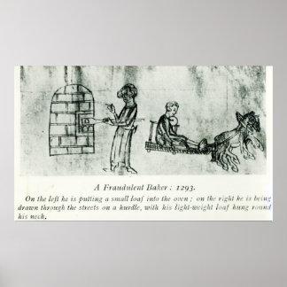 Un panadero fraudulento, 1293 póster