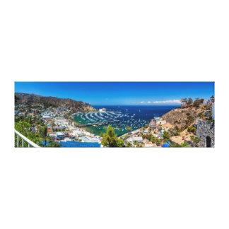 Un panorama de Avalon en la isla de Catalina Lona Envuelta Para Galerías