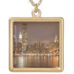 Un panorama del horizonte de New York City Pendiente Personalizado