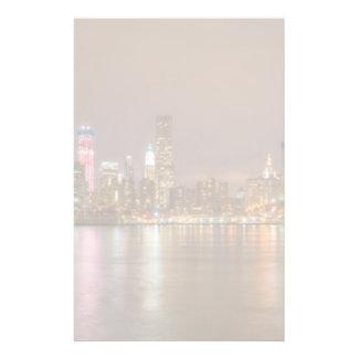 Un panorama del horizonte de New York City Papeleria De Diseño