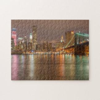 Un panorama del horizonte de New York City Puzzle