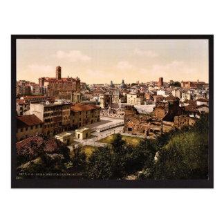 Un panorama del Palatine, obra clásica de Roma, It Tarjetas Postales