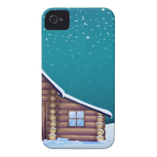 un Papá Noel y un reno iPhone 4 Cárcasas