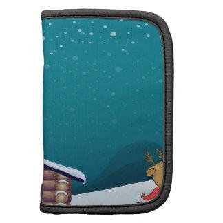 un Papá Noel y un reno Planificadores