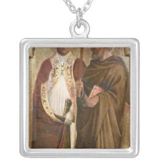 Un papa y un St. Matías, c.1428-29 Collar Plateado