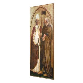 Un papa y un St. Matías, c.1428-29 Lona Envuelta Para Galerías
