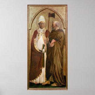 Un papa y un St. Matías, c.1428-29 Póster