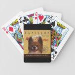 Un Papillon cariñoso hace nuestro hogar de la casa Baraja Cartas De Poker