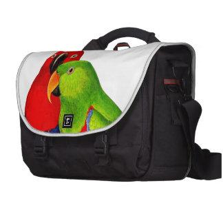 Un par de pájaros del amor de los loros bolsas de portátil