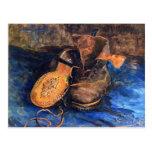 Un par de zapatos de Vincent van Gogh 1887 Postal
