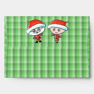 Un par feliz en el navidad. Sr. y señora Claus
