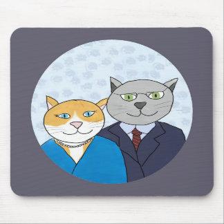 Un par muy bonito Mousepad del gatito Tapete De Ratón