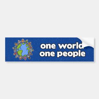 un parachoque 4 del mundo pegatina para auto