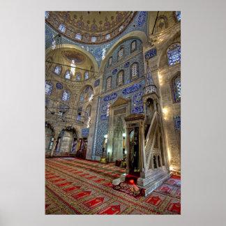 Un paraíso de la teja; Mezquita del bajá de Sokoll Poster