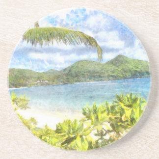 Un paraíso tropical precioso posavasos personalizados