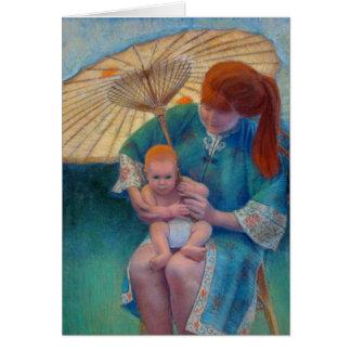 Un parasol del día soleado tarjeta de felicitación