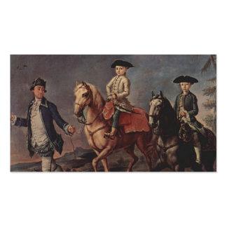 Un paseo a caballo por Pietro Longhi Plantillas De Tarjetas Personales