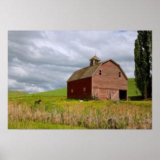 Un paseo a través del país de la granja de Palouse Póster