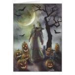 Un paseo brumoso en Halloween Tarjetas