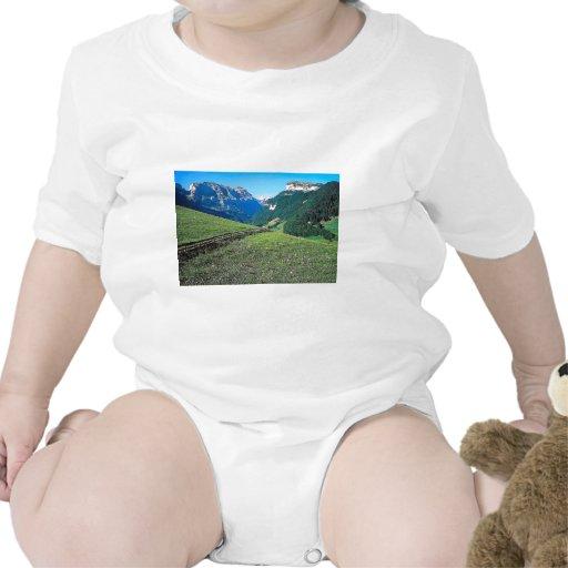 Un paseo de la montaña cerca de Lauterbrunnen Camiseta