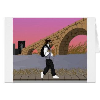 Un paseo de la opinión del puente alt (digital) tarjeta de felicitación