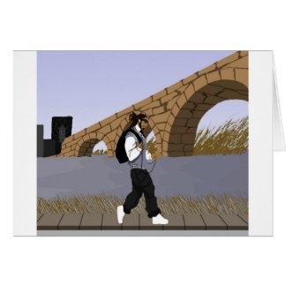 Un paseo de la opinión del puente (digital) tarjeta de felicitación