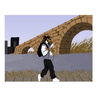 Un paseo de la opinión del puente (digital) tarjeta postal