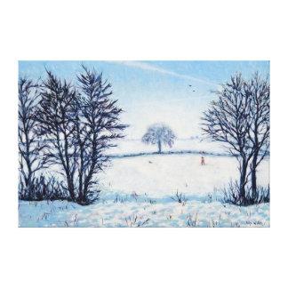 Un paseo de los inviernos impresión en lienzo