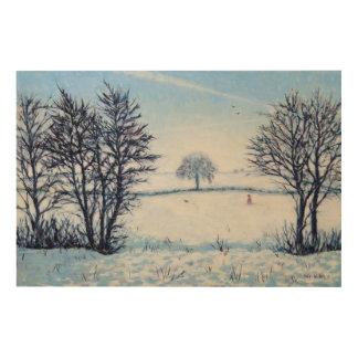 Un paseo de los inviernos impresión en madera