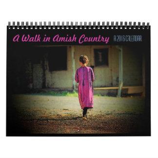 Un paseo en calendario del país de Amish